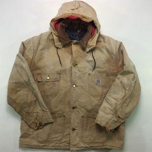 Vintage CARHARTT Jacket Duck Canvas Blanket Lined